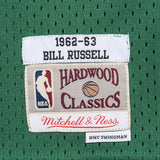 Bill Russell 1962-63 Boston Celtics Mitchell & Ness Green Away Swingman Jersey