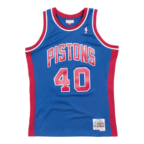 Bill Laimbeer NBA Detroit Pistons Mitchell & Ness Blue 1988-89 Swingman Jersey
