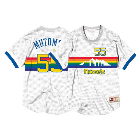 Dikembe Mutombo Denver Nuggets Mitchell & Ness Men's Mesh Crew Neck Jersey