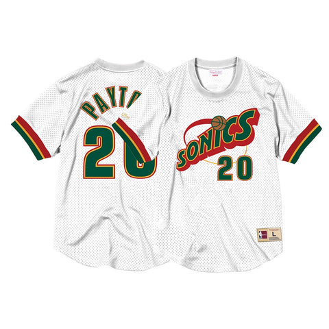 Gary Payton Seattle Supersonics Mitchell & Ness Men's Mesh Crew Neck Jersey