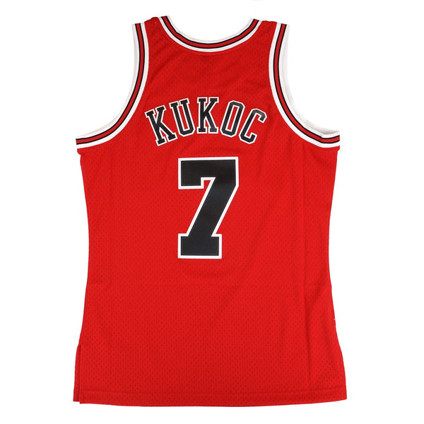 Toni Kukoc 1997-98 Chicago Bulls Mitchell & Ness Red Soul Swingman Jersey Men's