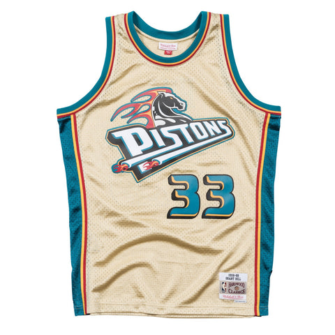 Grant Hill NBA Detroit Pistons Mitchell & Ness Gold 1998-99 Swingman Jersey