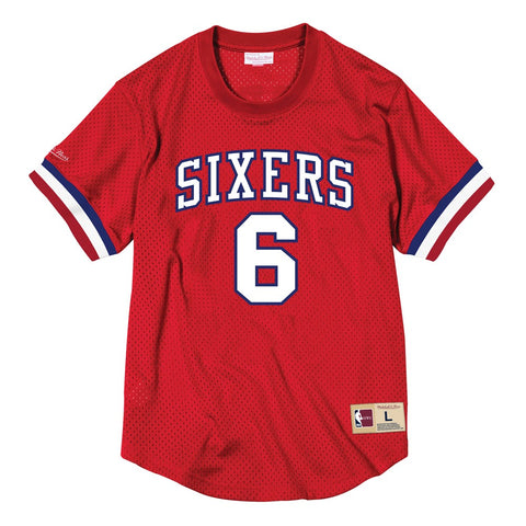 Julius Erving Philadelphia 76ers Mitchell & Ness Men's Mesh Crew Neck Jersey