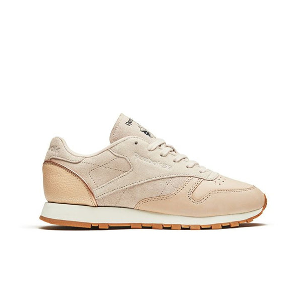 Reebok Classic Leather Golden Neutrals (VEGTAN-SANDTRAP) Women's Shoes BD3744
