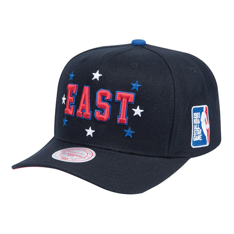 2004 NBA All Star East Mitchell & Ness High Crown Curve Black Snapback Cap Hat
