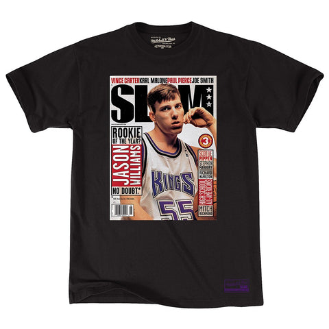 "Jason Williams  Sacramento Kings Mitchell & Ness NBA Black ""Slam Cover"" T-Shirt"