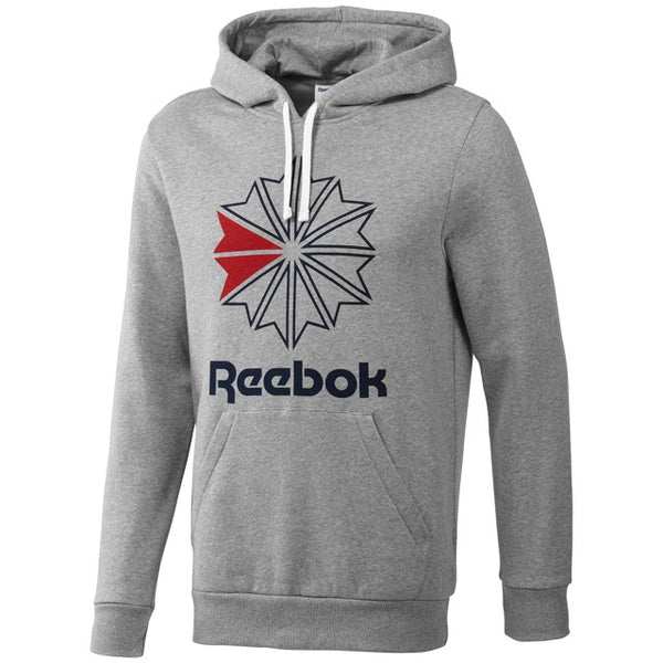 Reebok Classics Men's Star Hoodie (Medium Grey Heather) BR0568