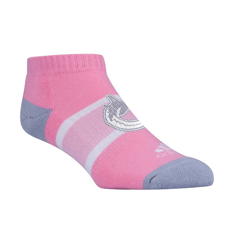 Vancouver Canucks NHL Adidas Women's Team Logo Pink Pink & Grey Ankle Socks