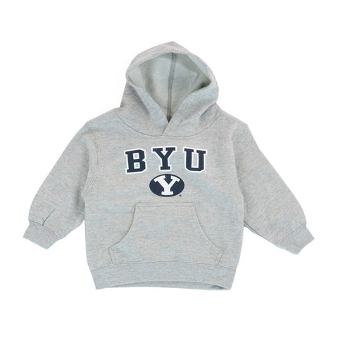 BYU Cougars NCAA Team Logo Grey Pullover Hoodie Fleece Toddler (2T-4T)