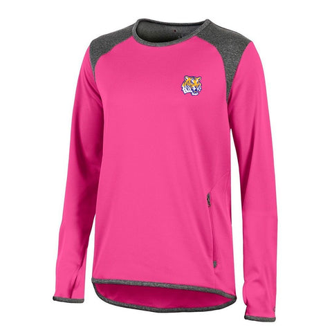 LSU Tigers NCAA Champion Women's (Pink) Athletic Tech Perf. Crew