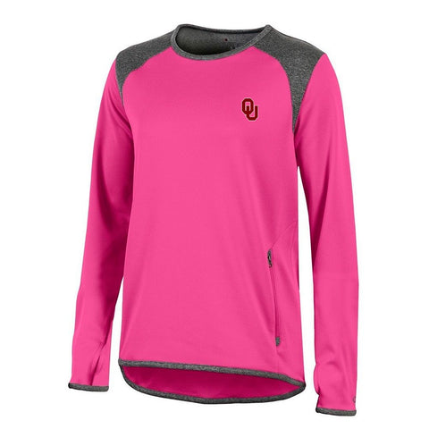Oklahoma Sooners NCAA Champion Women's (Pink) Athletic Tech Perf. Crew
