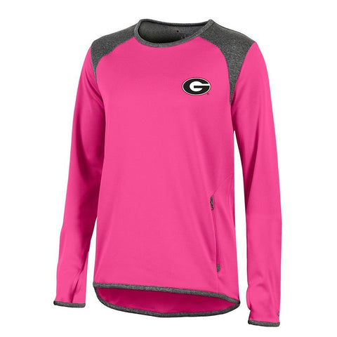 Georgia Bulldogs NCAA Champion Women's (Pink) Athletic Tech Perf. Crew