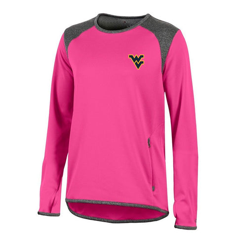 West Virginia Mountaineers NCAA Champion Women's (Pink) Athletic Tech Perf. Crew