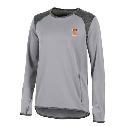 Illinois Fighting Illini NCAA Champion Women's (Grey) Athletic Tech Perf. Crew