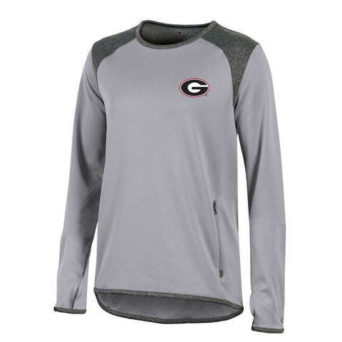 Georgia Bulldogs NCAA Champion Women's (Grey) Athletic Tech Perf. Crew