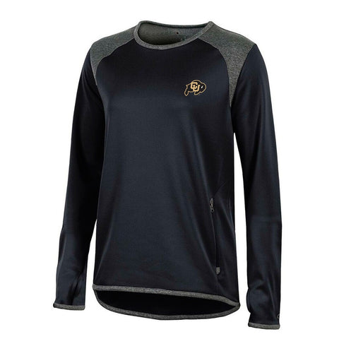 Colorado Buffaloes NCAA Champion Women's (Black) Athletic Tech Performance Crew