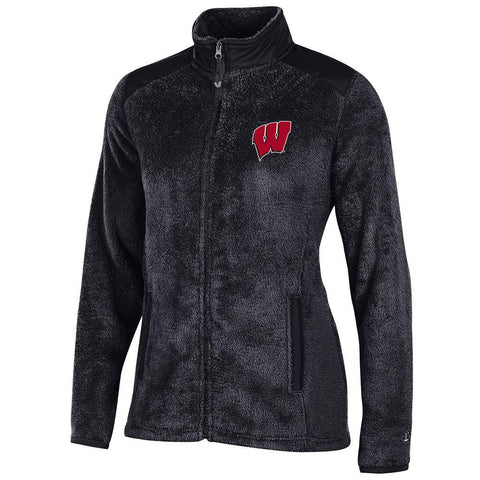 Wisconsin Badgers NCAA Full Zip Women's Team Logo Flurry Jacket by Champion