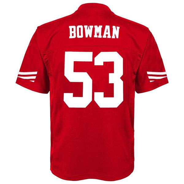 NaVorro Bowman NFL San Francisco 49ers Mid Tier Home Replica Jersey Youth (S-XL)