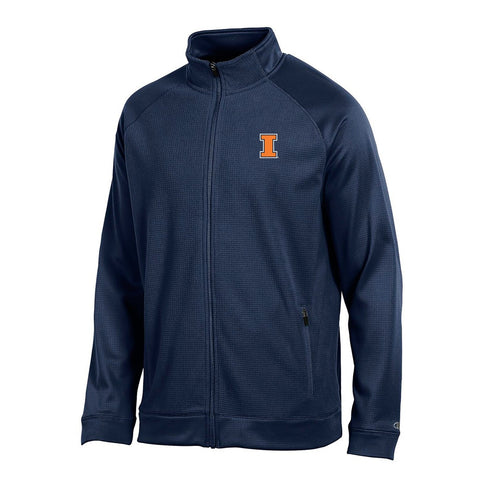 "Illinois Fighting Illini NCAA Champion Men's ""Achievement"" Navy Full Zip Jacket"