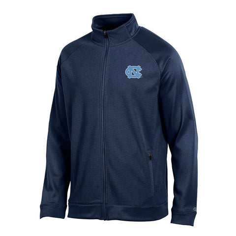 "UNC Tar Heels NCAA Champion Men's ""Achievement"" Navy Perf. Full Zip Jacket"