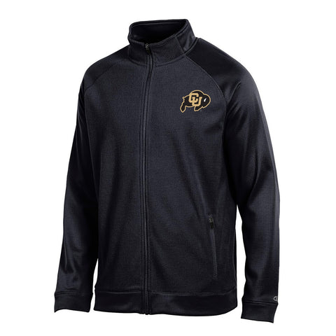 "Colorado Buffaloes NCAA Champion Men's ""Achievement"" Black Perf. Full Zip Jacket"