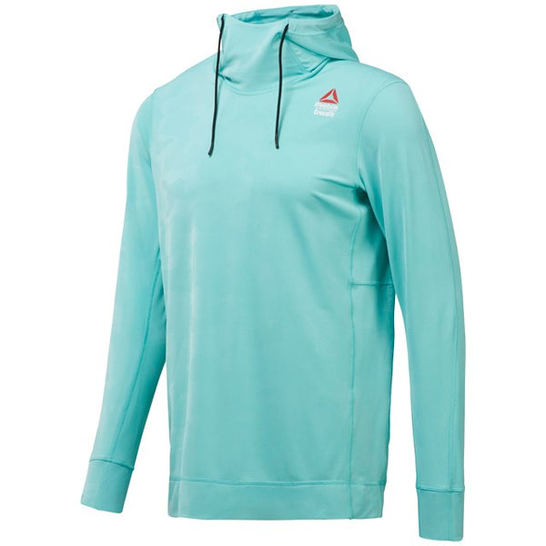 Reebok Men's Crossfit Jacquard Training Hoodie (Turquoise) CD4475