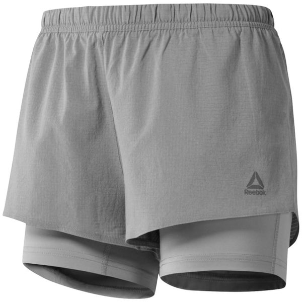 Reebok Women's 2-in-1 Speedwick Running Shorts (Powder Grey) CE4544