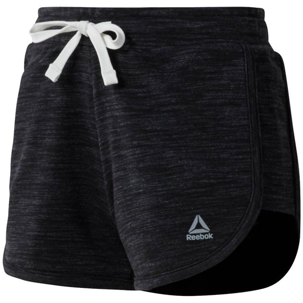 Reebok Women's Elements Marble Shorts (Black) CF8578