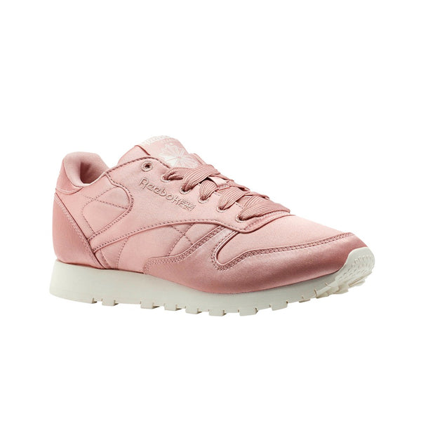 Reebok Classics Classic Leather Satin (Chalk/Pink/Classic White) Women's Shoes CM9800