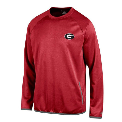 Georgia Bulldogs NCAA Champion Men's Convergence Red Pullover Crew