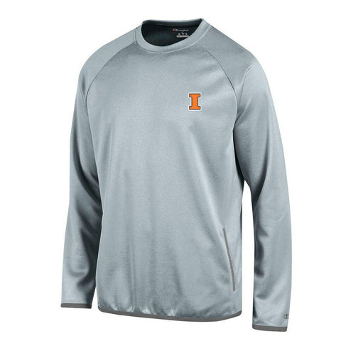 Illinois Fighting Illini NCAA Champion Men's Convergence Grey Pullover Crew