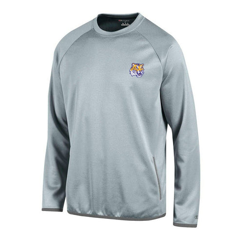 LSU Tigers NCAA Champion Men's Convergence Grey Pullover Crew
