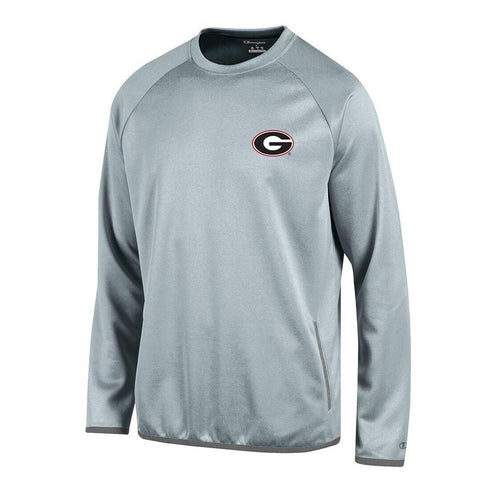 Georgia Bulldogs NCAA Champion Men's Convergence Grey Pullover Crew