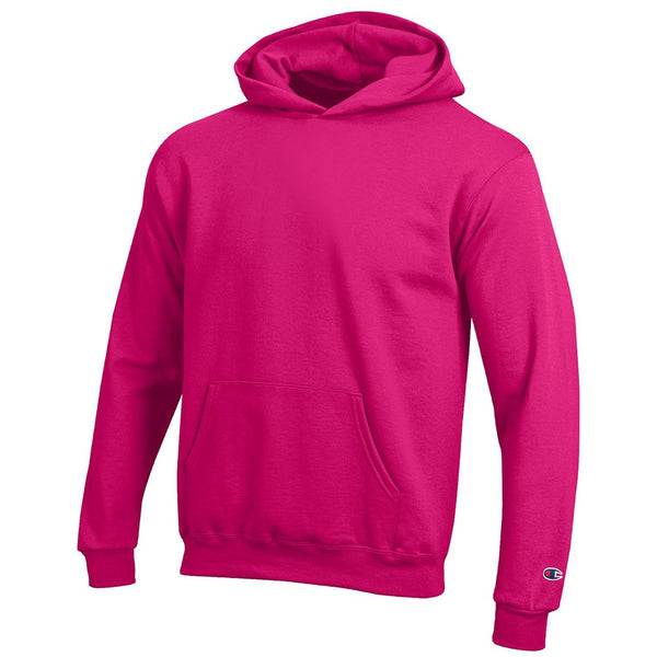 Champion Youth (Knockout Pink) Powerblend Sweat Pullover Hoodie Fleece (XS-S)