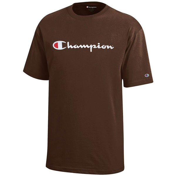 Champion Script Logo Youth (Brown) Short Sleeve T-Shirt