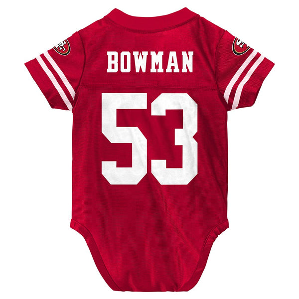 NaVorro Bowman NFL San Francisco 49ers Infant Newborn Creeper Red Jersey (3-9M)