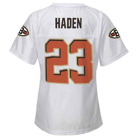 Joe Haden NFL Cleveland Browns White Replica Jersey Youth Girls Size (XS-XL) 0abab1803