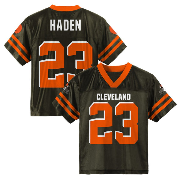 Joe Haden NFL Cleveland Browns Replica Home Brown Jersey Boys Youth (S-XL)