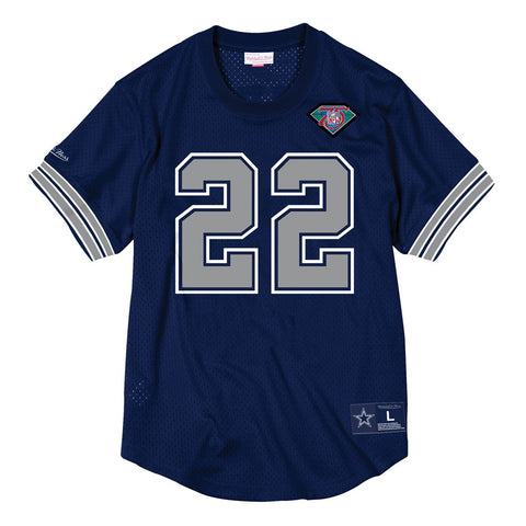 Emitt Smith Dallas Cowboys Mitchell & Ness Men's Mesh Crew Neck Jersey