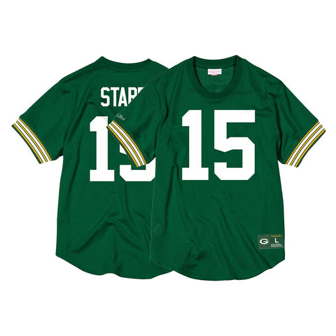 Bart Starr Green Bay Packers Mitchell & Ness Men's Mesh Crew Neck Jersey