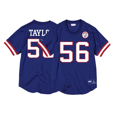c566e05ce Lawrence Taylor New York Giants Mitchell & Ness Men's Mesh Crew Neck Jersey