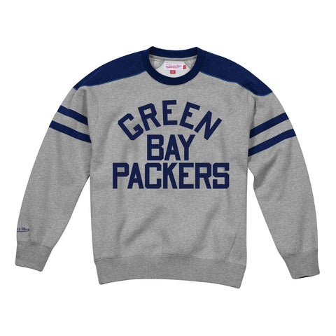 Green Bay Packers NFL Mitchell & Ness Men's Grey Men Sweatshirt