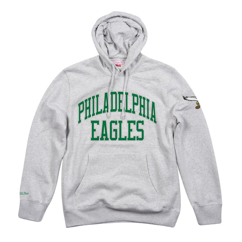 Philadelphia Eagles NFL Mitchell & Ness Men's Grey Men Hoodie