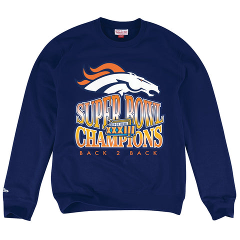 Denver Broncos NFL Mitchell & Ness Men's Navy Men Sweatshirt