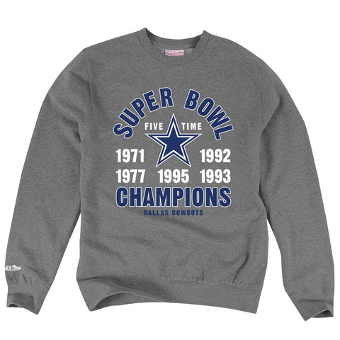 Dallas Cowboys NFL Mitchell & Ness Men's Grey Men Sweatshirt