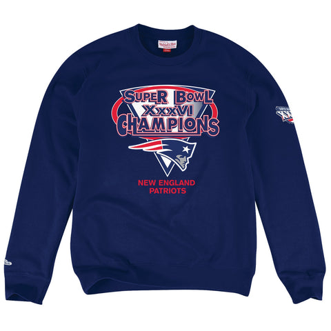 New England Patriots NFL Mitchell & Ness Men's Navy Men Sweatshirt