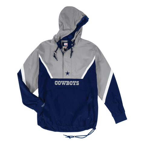 Dallas Cowboys NFL Mitchell & Ness Half Zip Anorak Throwback Jacket Men's