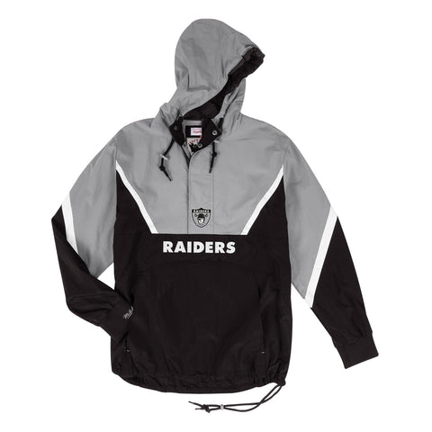 Oakland Raiders NFL Mitchell & Ness Half Zip Anorak Throwback Jacket Men's