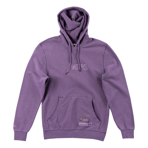 Los Angeles Lakers NBA Men's Mitchell & Ness Purple Washed Out Pullover Hoodie