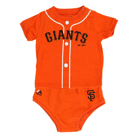 "San Francisco Giants MLB Majestic Infant's Orange ""MVP"" Shirt & Pants Set (12M)"